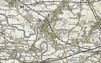 Old map of Didsbury in 1903