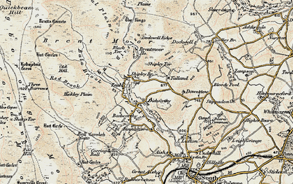 Old map of Avon Dam Reservoir in 1899-1900