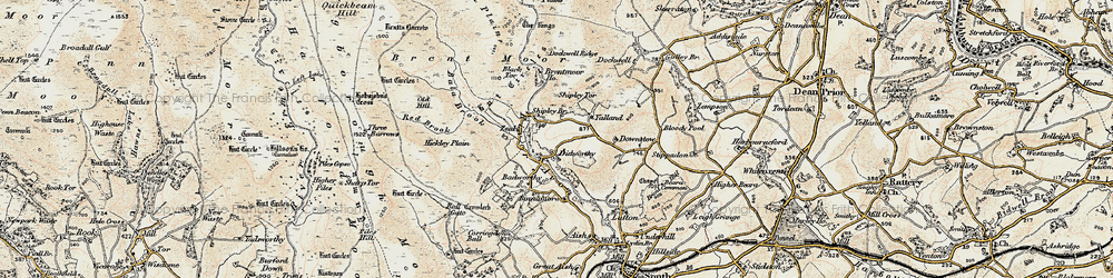 Old map of Woolholes in 1899-1900