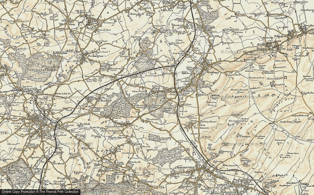 Old Map of Dilton Marsh, 1898-1899 in 1898-1899