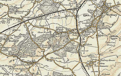 Old map of Dilton Marsh in 1898-1899