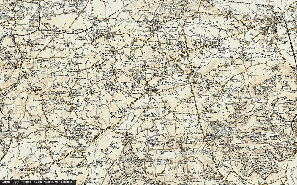 Old Map of Dilwyn, 1900-1903 in 1900-1903