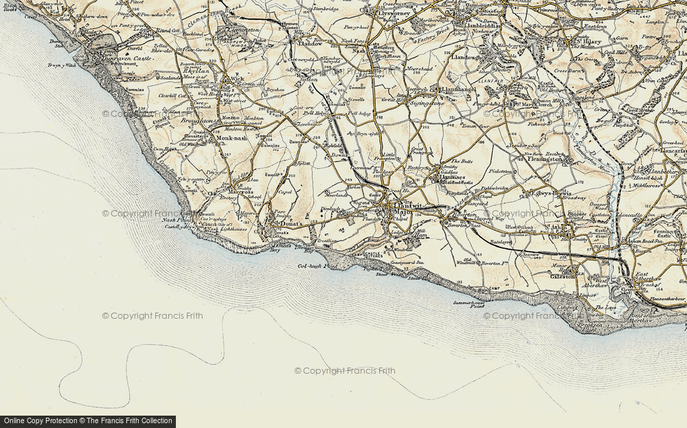 Old Map of Historic Map covering Tir Abad in 1899-1900