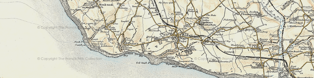 Old map of Tir Abad in 1899-1900