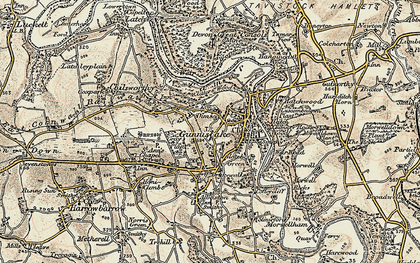 Old map of Dimson in 1899-1900