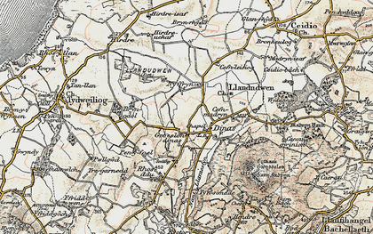 Old map of Wyddgrug in 1903