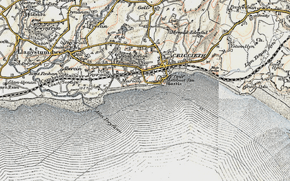 Old map of Dinas in 1903