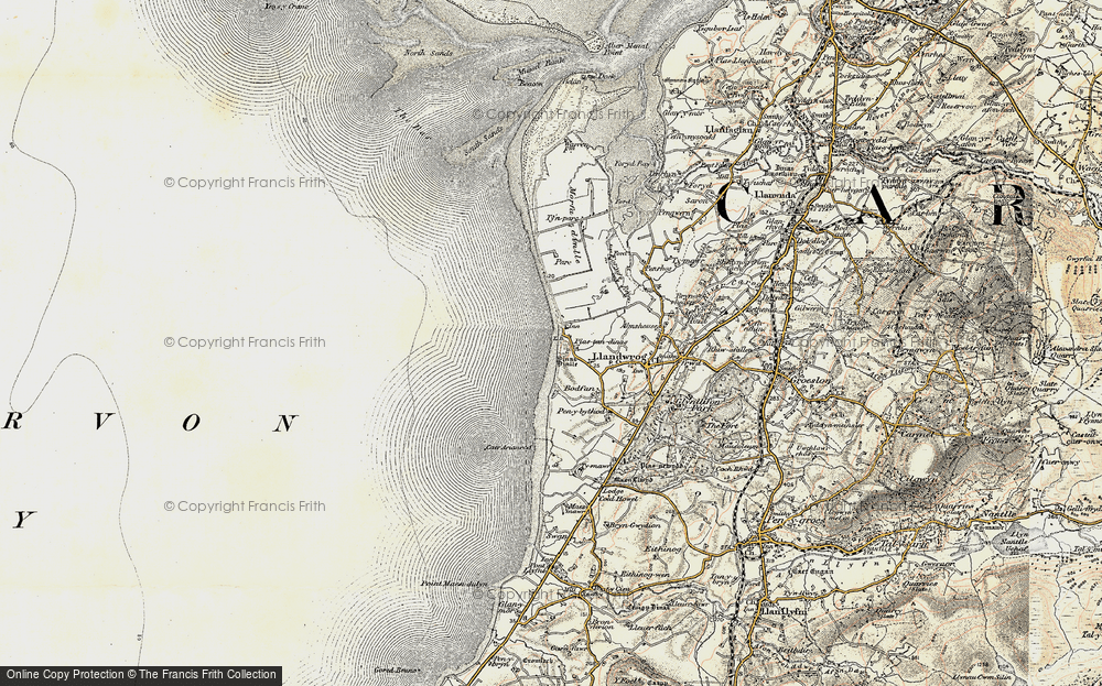 Old Map of Dinas Dinlle, 1903-1910 in 1903-1910