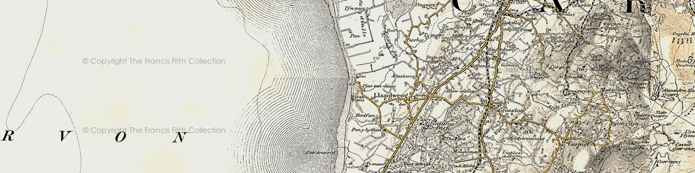 Old map of Dinas Dinlle in 1903-1910