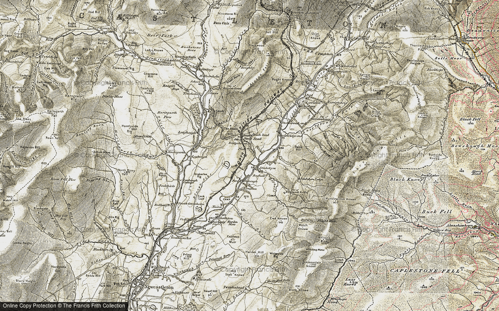 Old Map of Historic Map covering Leahaugh in 1901-1904