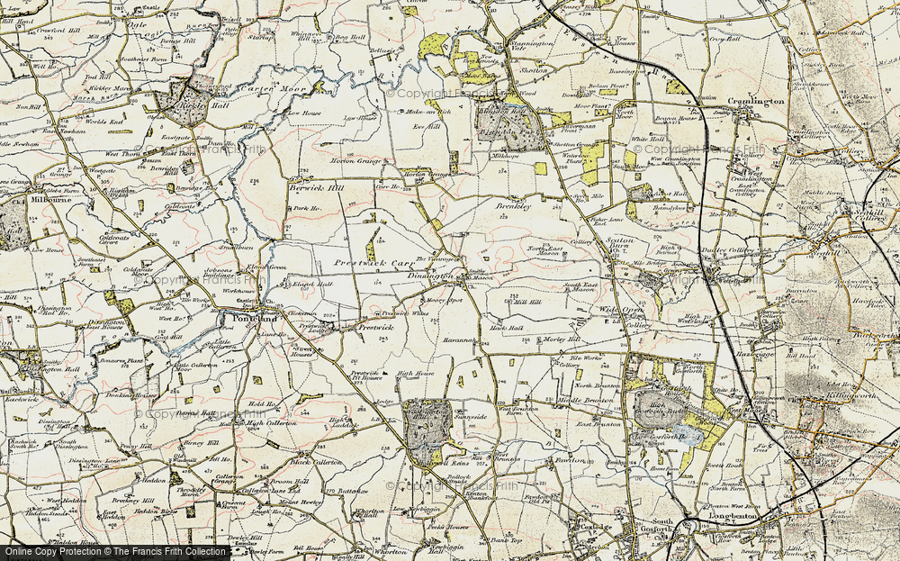 Old Map of Historic Map covering Toft Hill in 1901-1903