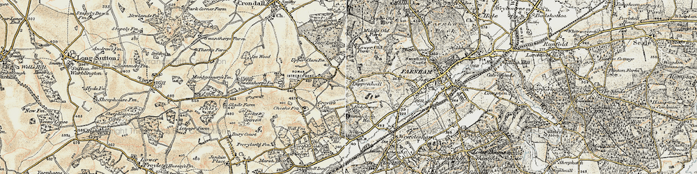Old map of Willey Place in 1898-1909