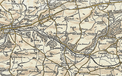Old map of Allerford in 1899-1900