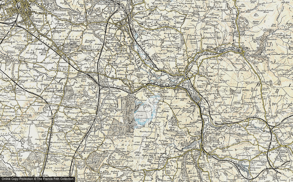 Old Map of Disley, 1902-1903 in 1902-1903