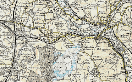 Old map of Disley in 1902-1903
