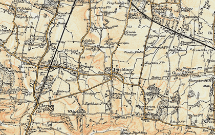 Old map of Ditchling in 1898