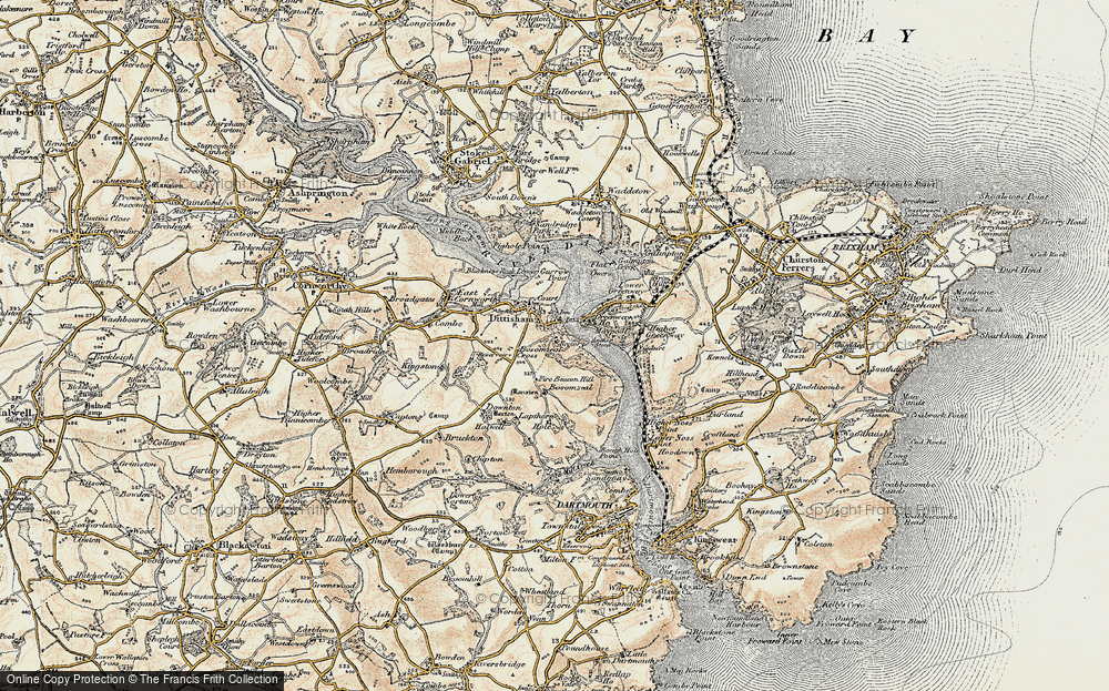 Old Map of Historic Map covering Lapthorne in 1899