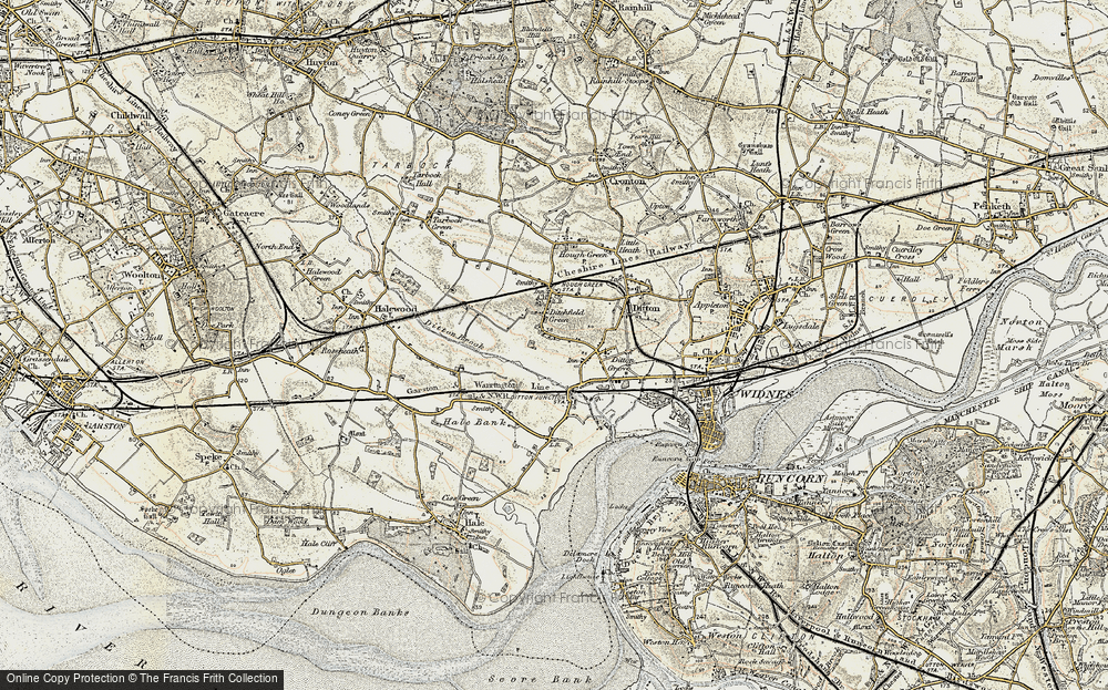 Old Map of Ditton, 1902-1903 in 1902-1903