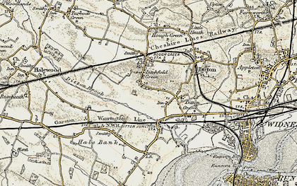 Old map of Ditton in 1902-1903