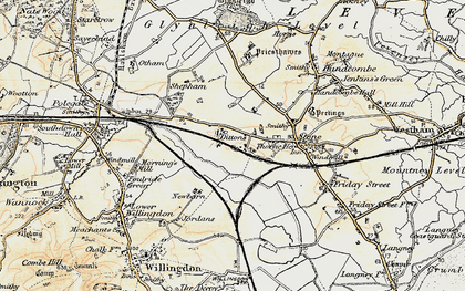 Old map of 1066 Country Walk in 1898