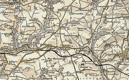 Old map of Dobwalls in 1900