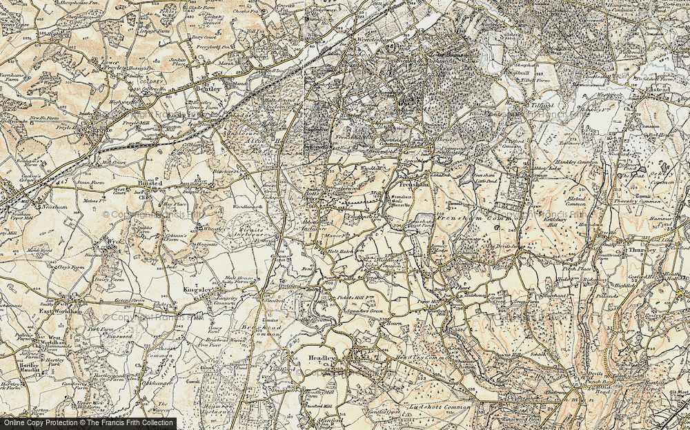 Old Map of Historic Map covering Abbots Wood Inclosure in 1897-1909