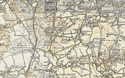 Old map of Abbots Wood Inclosure in 1897-1909