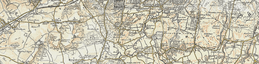Old map of Wishanger Lodge in 1897-1909