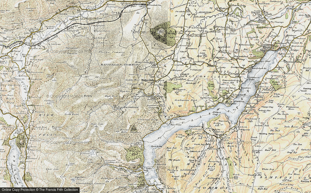 Old Map of Historic Map covering Aira Force in 1901-1904