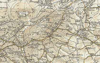 Old map of Clee Hill in 1901-1902