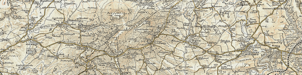 Old map of Whatsill in 1901-1902