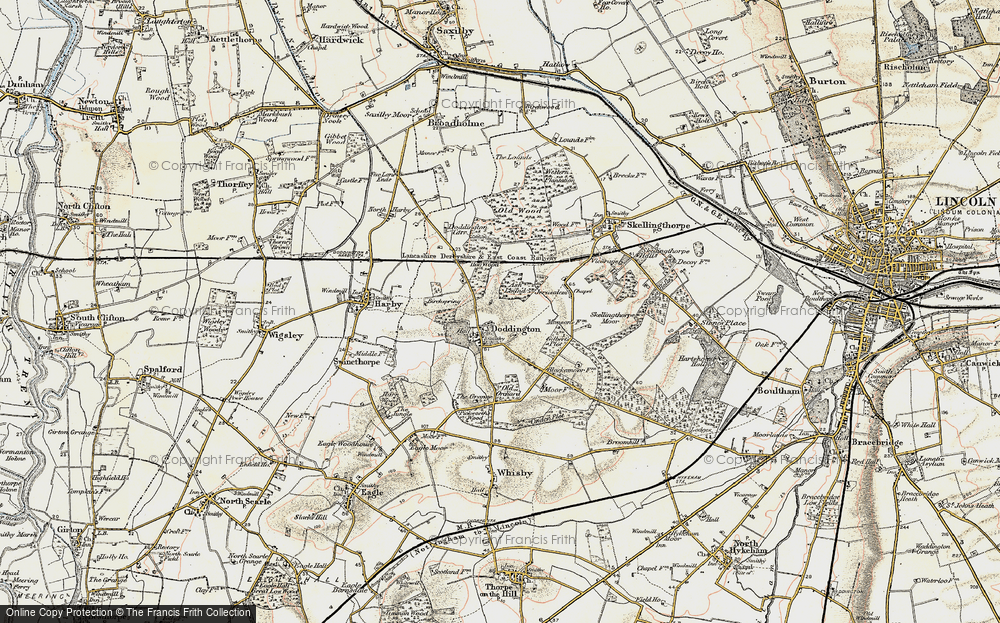 Old Map of Doddington, 1902-1903 in 1902-1903