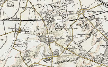 Old map of Ash Lound in 1902-1903