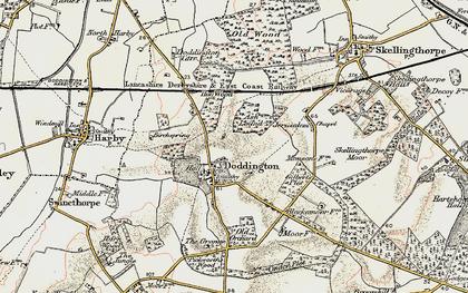 Old map of Doddington in 1902-1903
