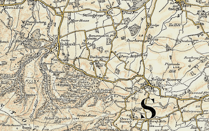 Old map of Dodington in 1898-1900