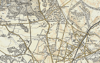 Old map of Badger Slade Wood in 1902