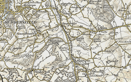 Old map of Woodsome Hall in 1903