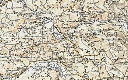 Old map of Allt Dolanog in 1902-1903