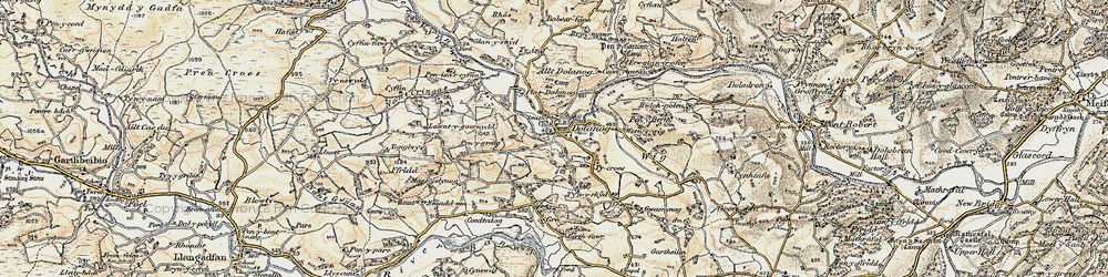 Old map of Allt Dolanog in 1902-1903