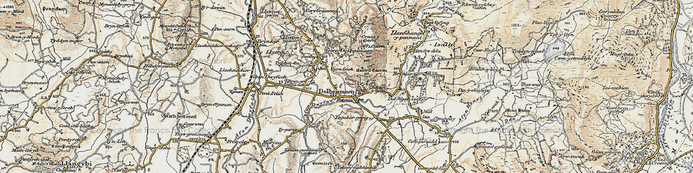 Old map of Dolbenmaen in 1903