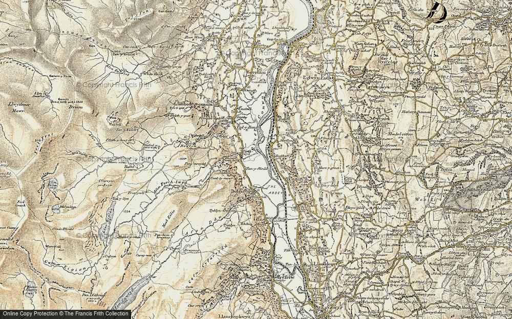 Old Map of Dolgarrog, 1902-1903 in 1902-1903