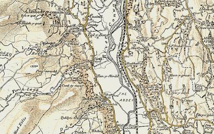 Old map of Dolgarrog in 1902-1903