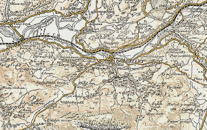 Old map of Dolgellau in 1902-1903