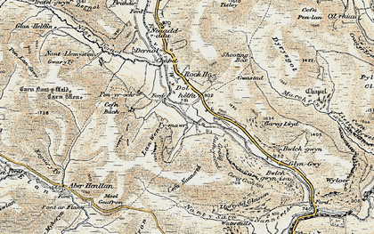 Old map of Banc Dolhelfa in 1901-1903