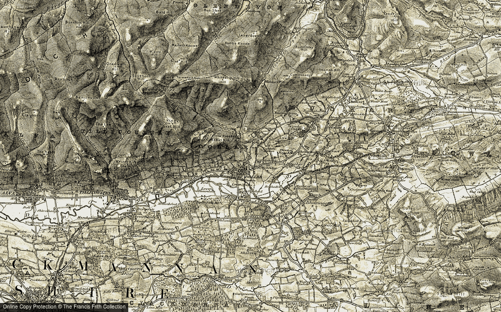 Old Map of Historic Map covering Lawhill Ho in 1904-1908