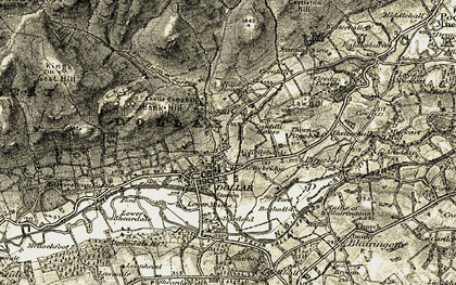 Old map of Wester Cornhill in 1904-1908