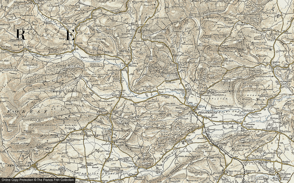 Old Map of Historic Map covering Ackhill in 1900-1903