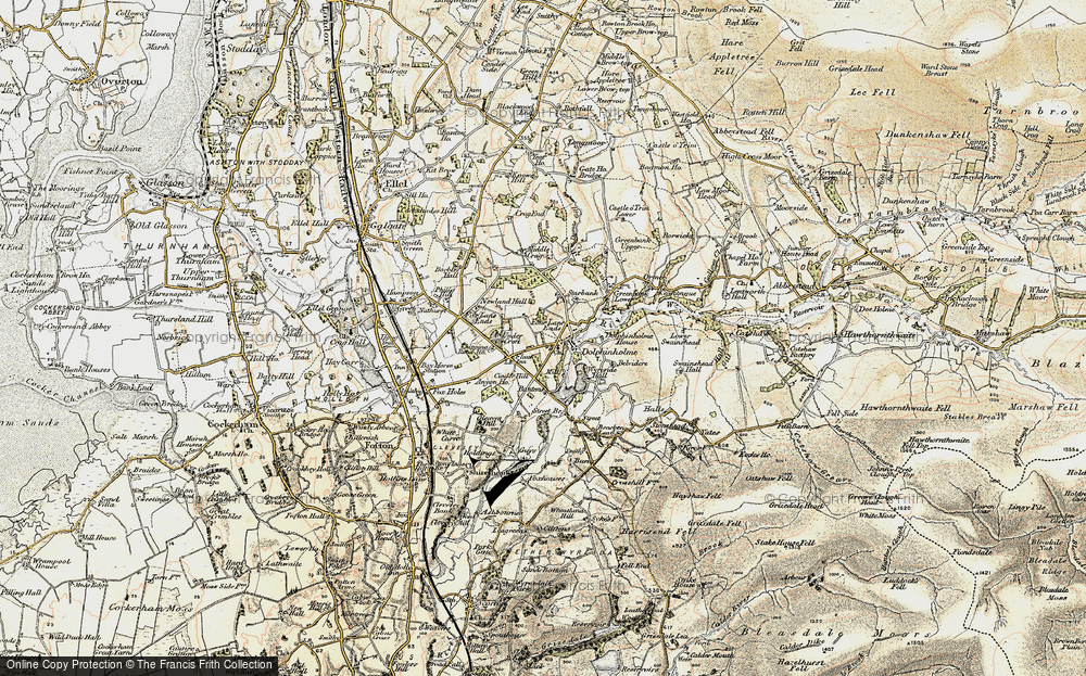 Old Map of Dolphinholme, 1903-1904 in 1903-1904