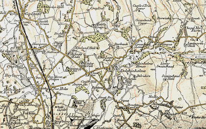 Old map of Dolphinholme in 1903-1904