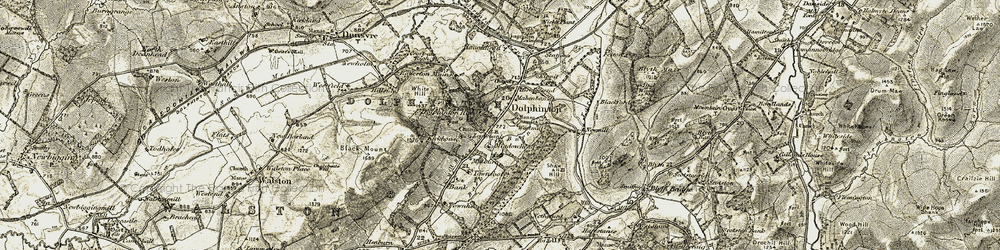 Old map of White Hill in 1904